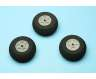 Rubber wheel, 50mm, pack of 3