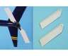 GRP tail rotor blades 120mm